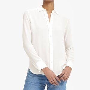 NWOT Everlane The Clean Silk Relaxed Shirt